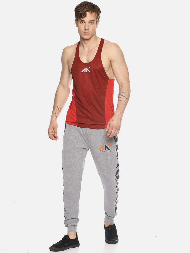 QUICK-DRY RED PANEL Singlets - AestheticNation