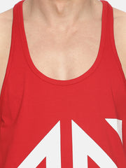 UNLEASH AESTHETICS - RED STRINGER Singlets - AestheticNation