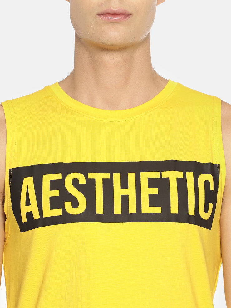OBLIVION SLEEVELESS YELLOW Men's - AestheticNation