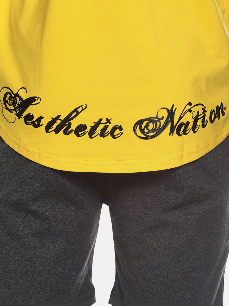 UNLEASH AESTHETICS - YELLOW STRINGER Singlets - AestheticNation