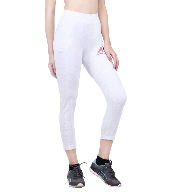 TAPERED TRACK WHITE Bottoms - AestheticNation