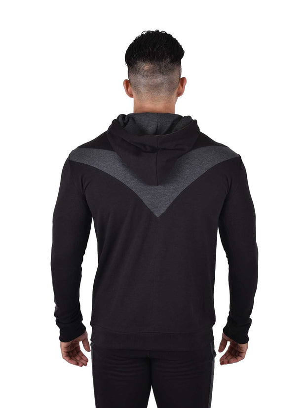 LEGACY - ICONIC HOODIE BLACK CHARCOAL Men's - AestheticNation