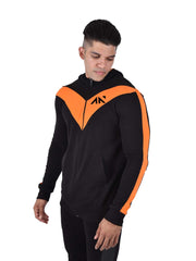 LEGACY - ICONIC HOODIE BLACK ORANGE Men's - AestheticNation