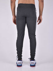 NextGen - Charcoal Zipper Bottom. Track Pant - AestheticNation