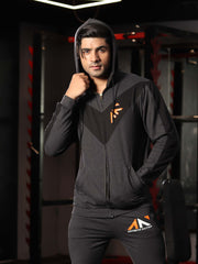 LEGACY - ICONIC HOODIE CHARCOAL BLACK Men's - AestheticNation