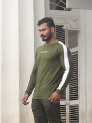 VISIONARY OLIVE STRIPED TSHIRT Men's - AestheticNation