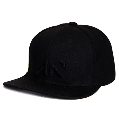 SNAPBACK CAP - ALL BLACK Cap - AestheticNation