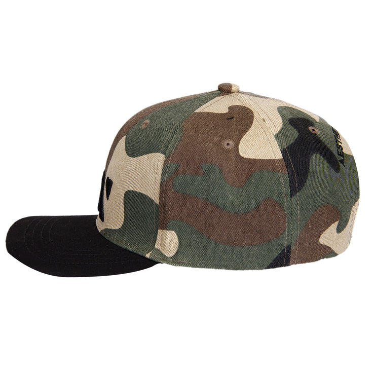 SNAPBACK CAP - ARMY BLACK Cap - AestheticNation