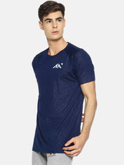COOLDRY -  NAVY EMBOSSED TSHIRT