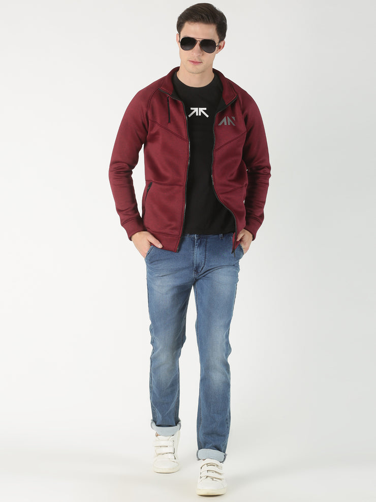 FREEZE RED MELANGE JACKET Hoodie - AestheticNation
