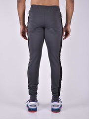NextGen - Steel Grey Zipper Bottom. Track Pant - AestheticNation