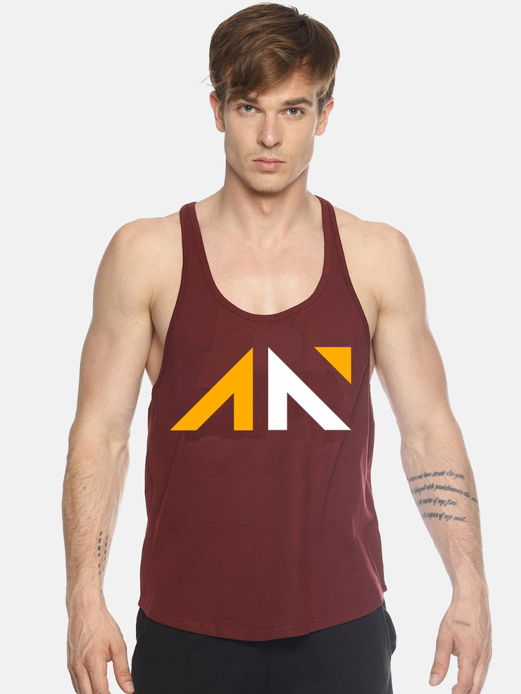 UNLEASH AESTHETICS - MAROON STRINGER Singlets - AestheticNation