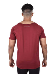 ORGANIC BAMBOO TEE - WINE Men's - AestheticNation