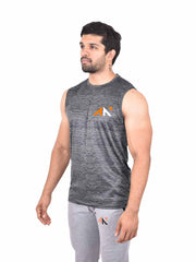 COOLDRY - ESSENTIAL BLACK SLEEVELESS Men's - AestheticNation