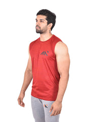 COOLDRY - ESSENTIAL RED SLEEVELESS Men's - AestheticNation