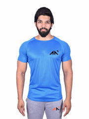 COOLDRY -  HEXA BLUE TSHIRT Men's - AestheticNation