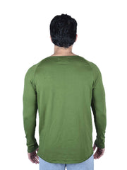 RAW EDGED OLIVE TSHIRT Men's - AestheticNation
