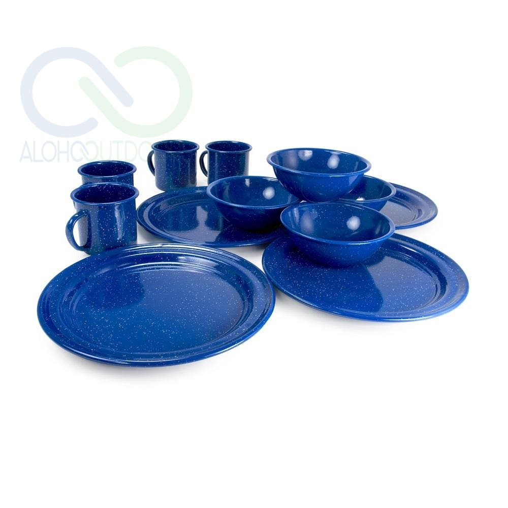 Alpine Mountain Gear 4 Person Enamel Dinning Set