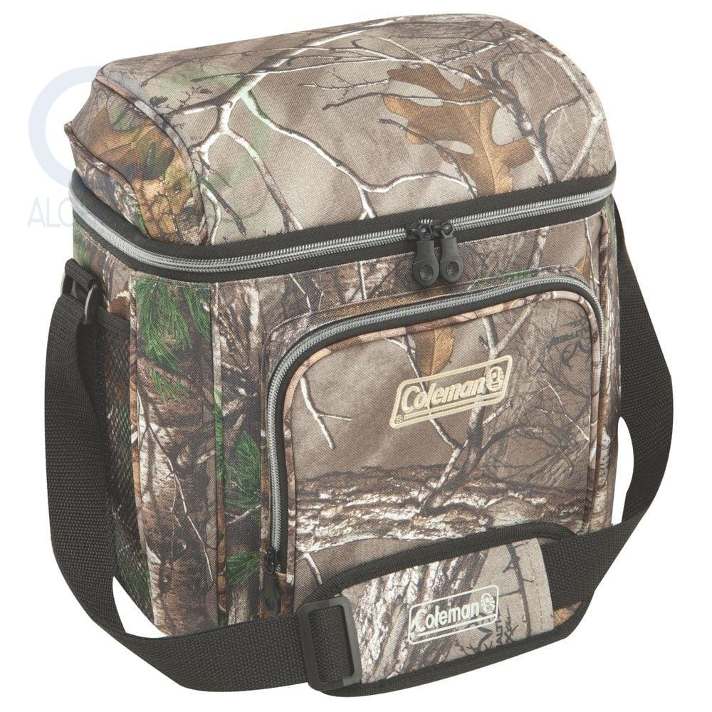 Coleman 16-Can Soft Cooler With Hard Liner-Realtree Camo
