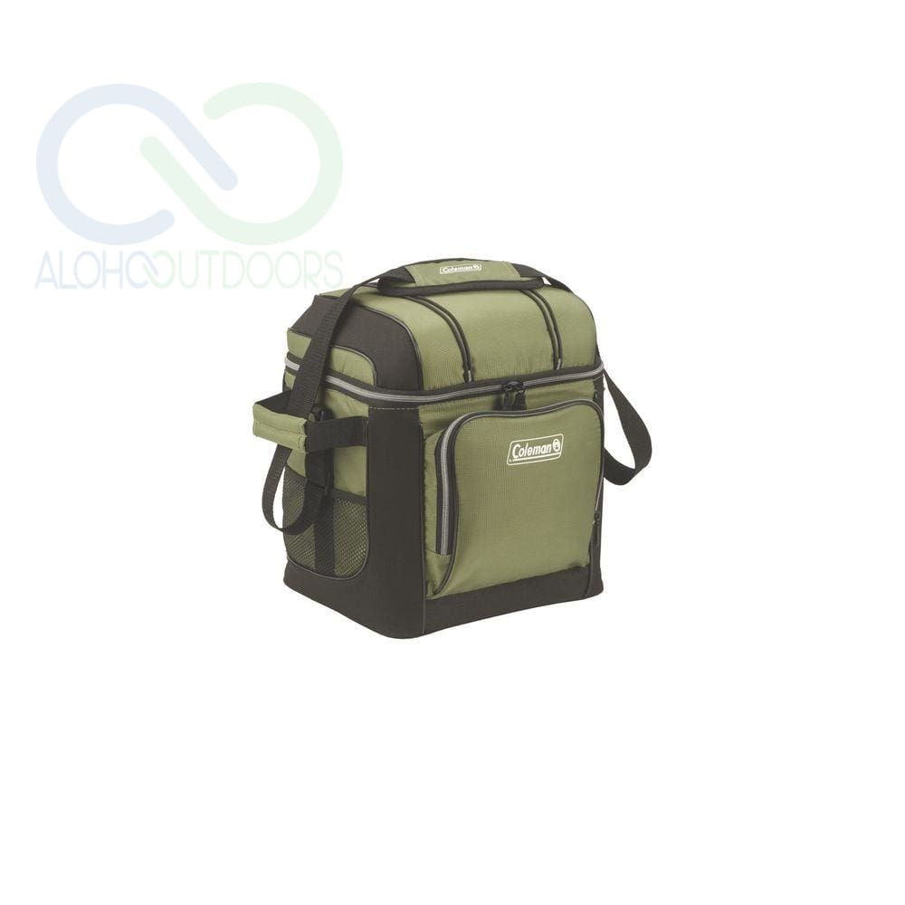 Coleman 30-Can Soft Cooler With Hard Liner-Green