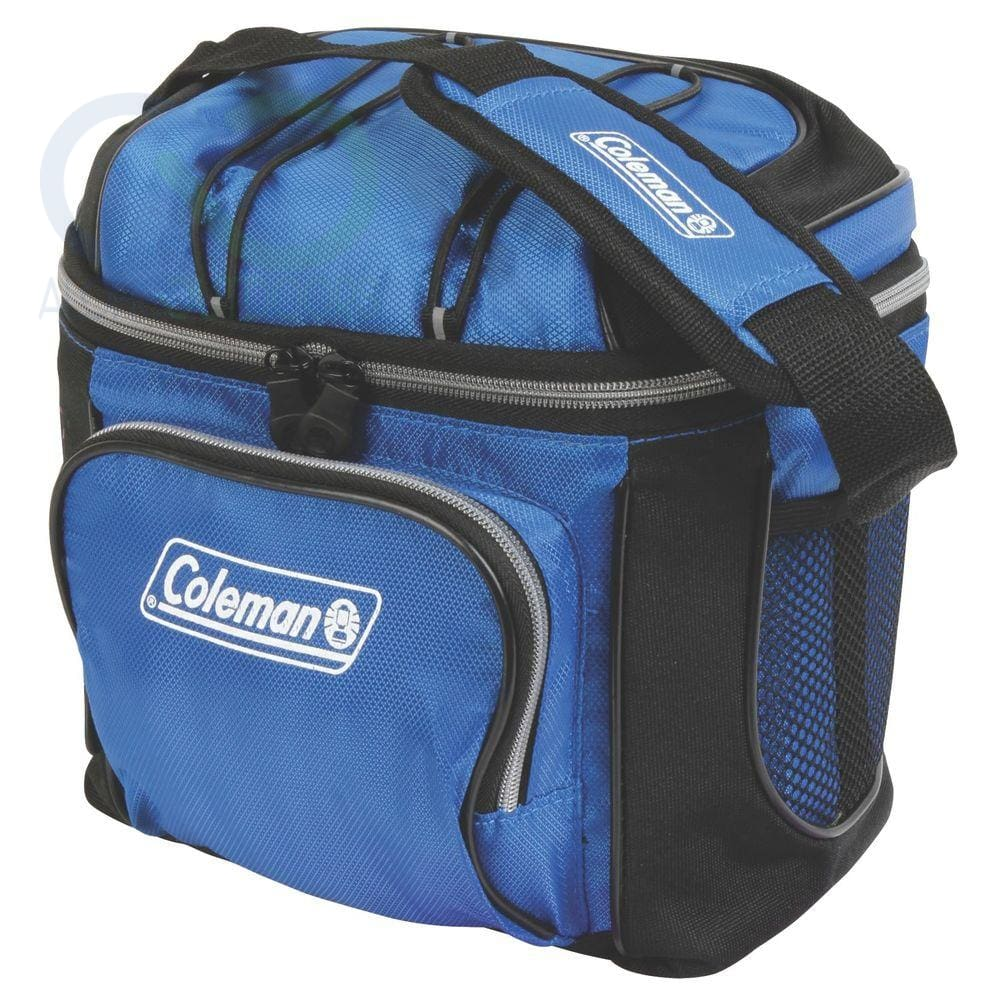 Coleman 9-Can Soft Cooler With Hard Liner-Blue