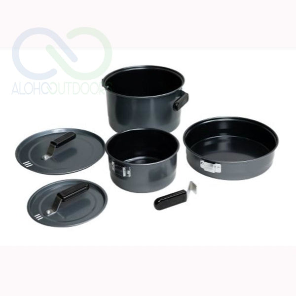 Coleman Family Cookset 6 Piece Black Enamel 2000016423