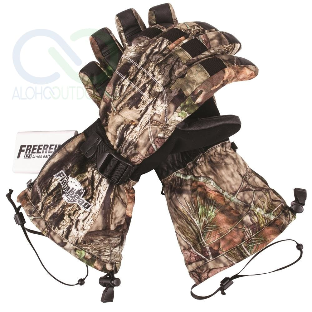 Flambeau Heated Synthetic Palm Gloves Camo - Small
