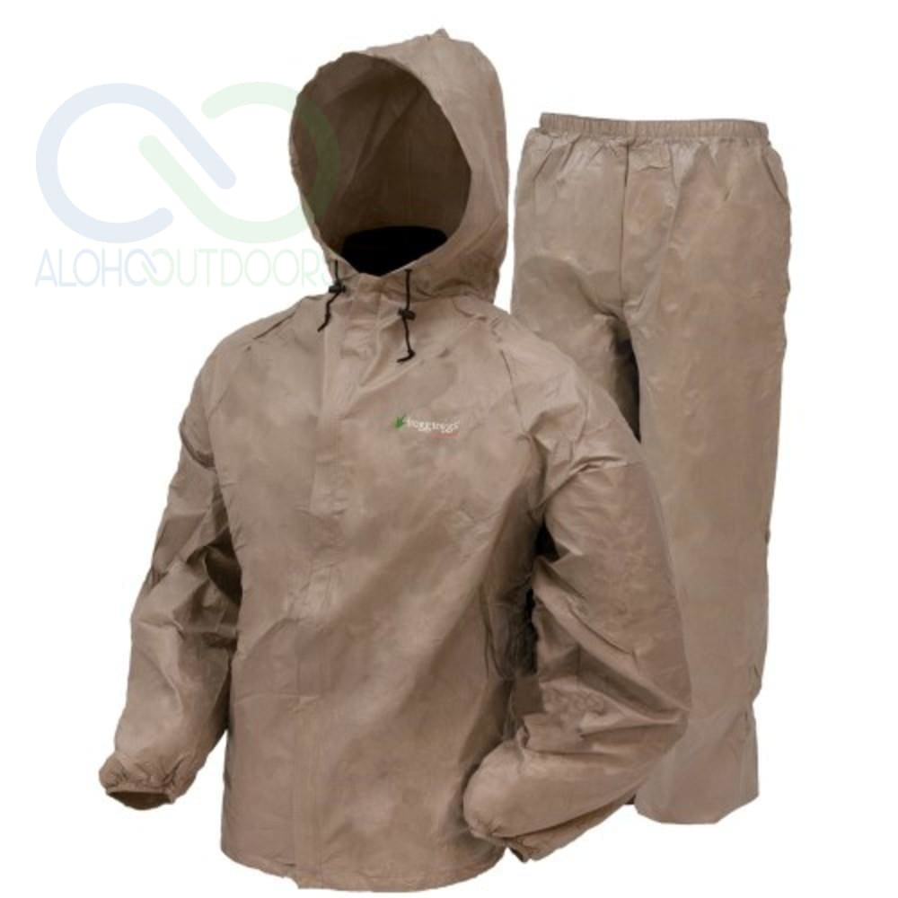 Frogg Toggs Ultra Lite Rain Suit Khaki Medium Ul12104-04Md