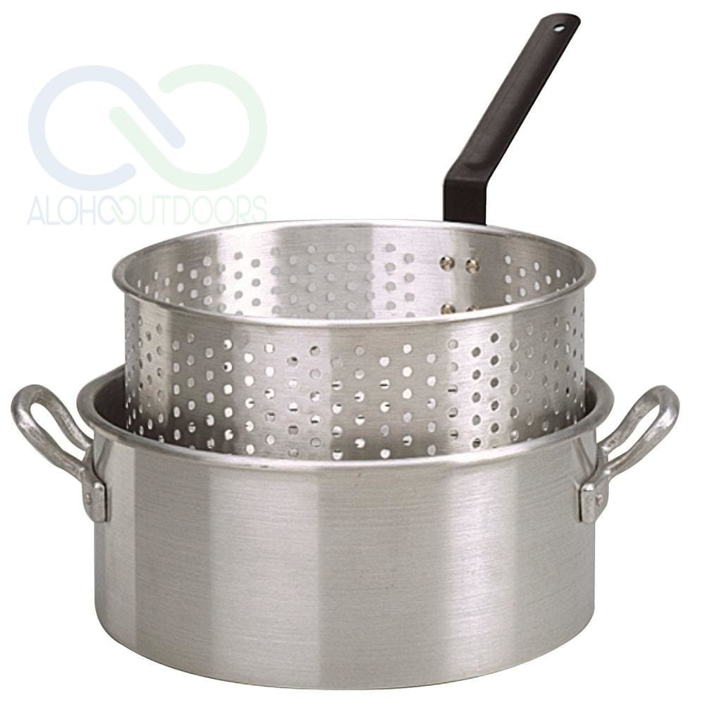King Kooker #kk2-10 Qt. Alum Fry Pan/basket -2 Helper Handle