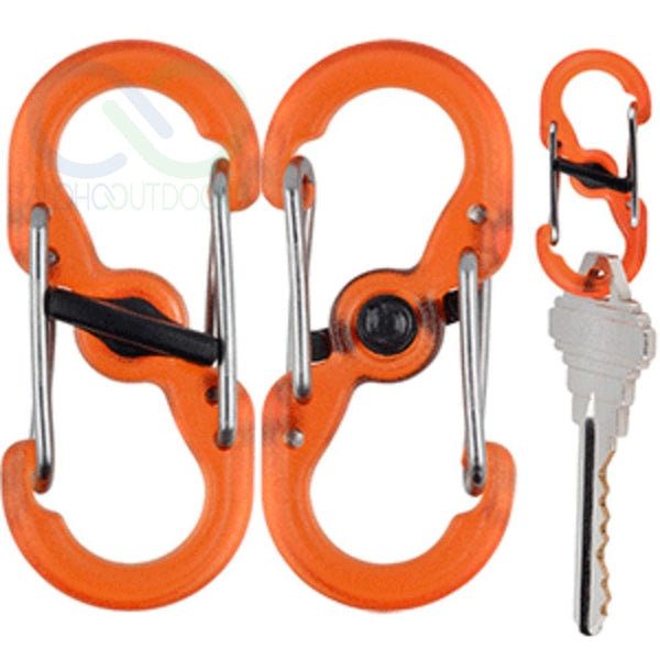 Nite Ize S-Biner® Microlock® Polycarbonate - 2-Pack - Orange