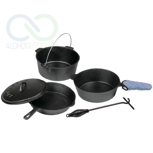 Stansport 6-Piece Iron Cook Set Stn16903