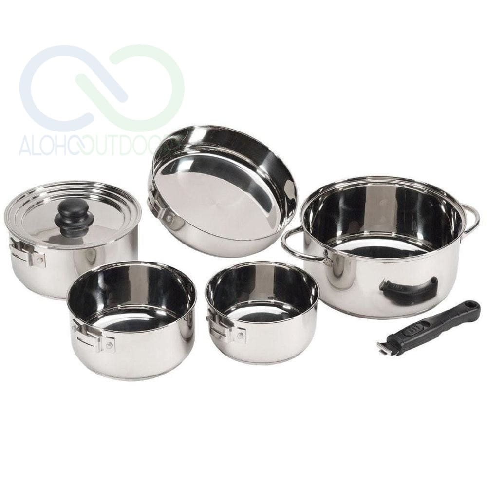 Stansport Stainless Steel 7 Piece Deluxe Family Cook Set