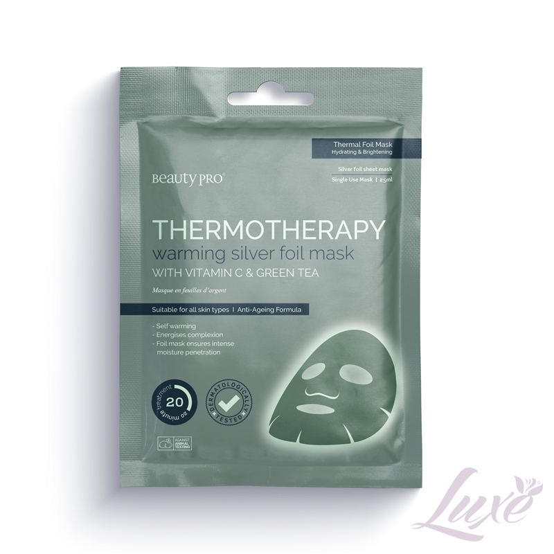 Beauty Pro Thermotherapy Warming Silver Face Mask