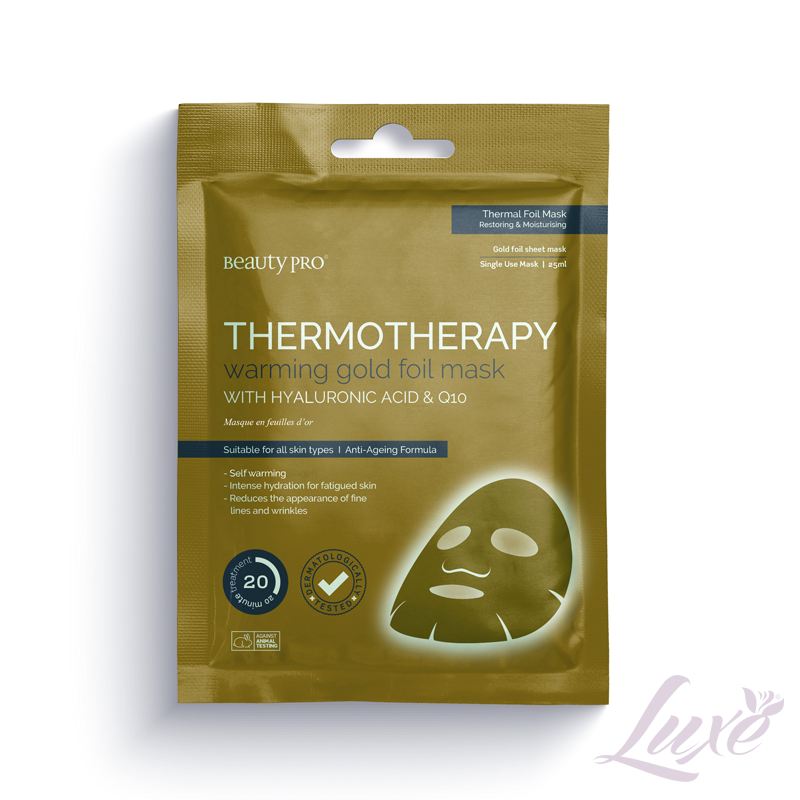 Beauty Pro Thermotherapy Warming Gold Face Mask