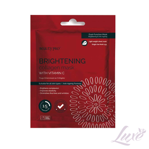 Beauty Pro Brightening Collagen Sheet Mask with Vitamin C