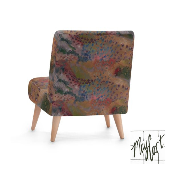 aerialone desert art print upholstered chairs