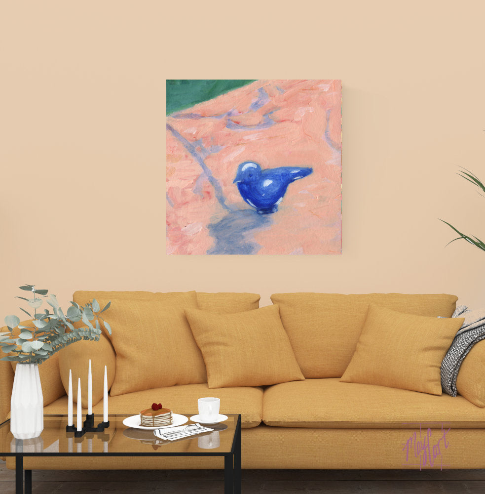 "bluebird-giclees-May Cart Print Art-24"" x 24"" gallery wrapped canvas-"