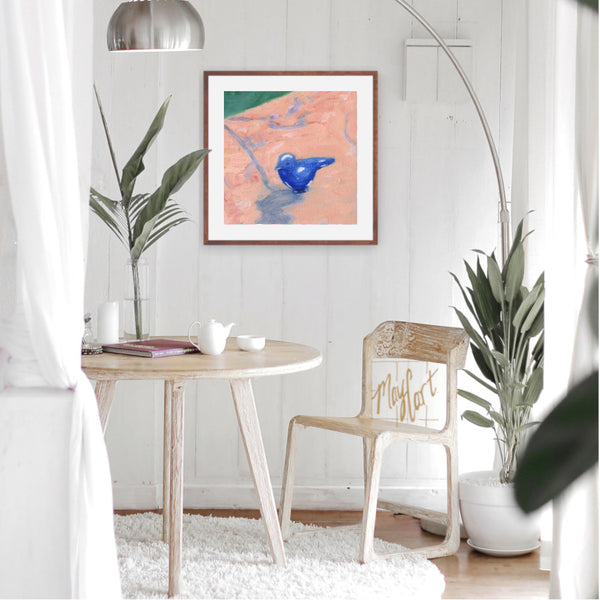 "bluebird-giclees-May Cart Print Art-18"" x 18"" in 22"" frame-"