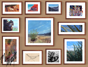 desert themed gallery wall-giclees-May Cart Print Art-set of 11 prints-