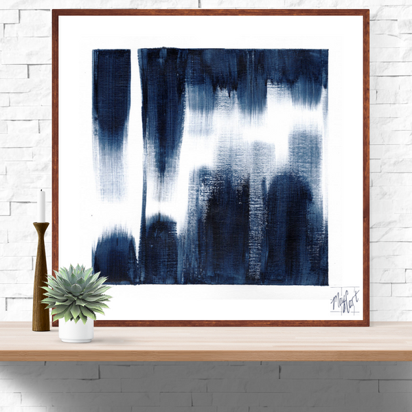 midnight blue brushstrokes