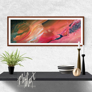 "soar-giclees-May Cart Print Art-8"" x 24"" in 11"" x 27"" frame-"