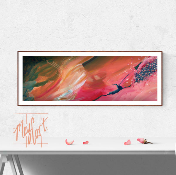 "soar-giclees-May Cart Print Art-10"" x 30"" in 14"" x 34"" frame-"