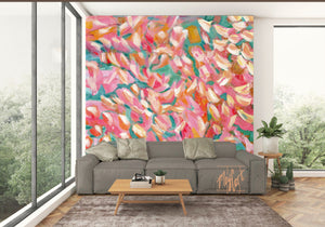 summer arrives oversize prints & mural