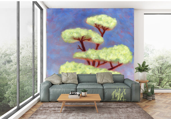 storybook tree No. 1 oversize prints & mural-oversize prints-May Cart Print Art-9ft x 9ft-adhesive mural-