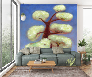 storybook tree No. 2 oversize prints & mural-oversize prints-May Cart Print Art-9ft x 9ft-adhesive mural-