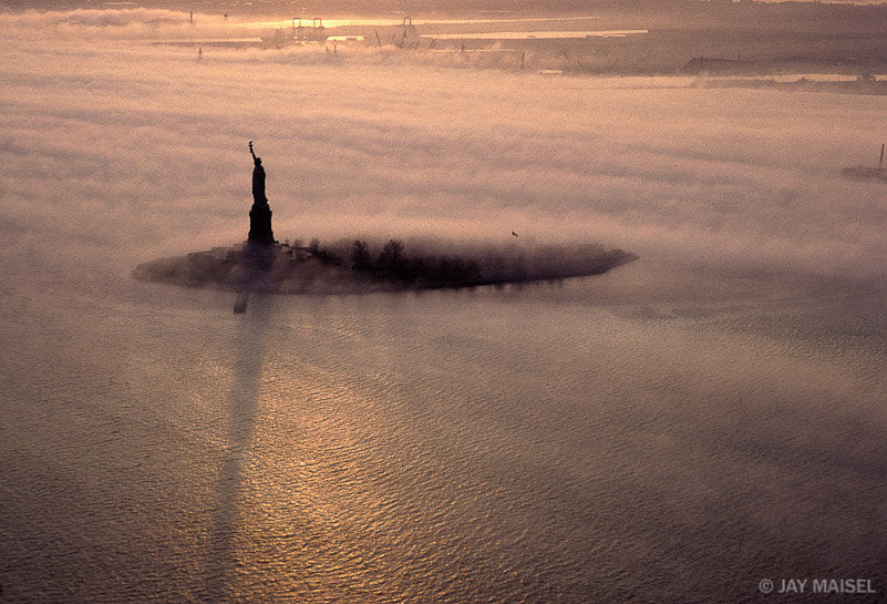Statue of Liberty in Mist