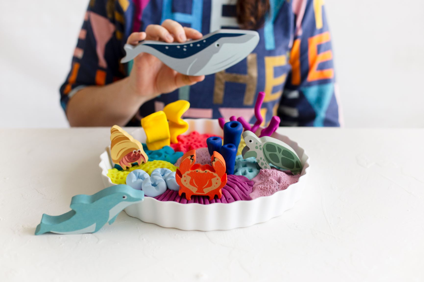 Creative Play -  DIY Baked Clay Coral Activity