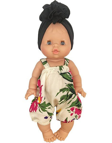 Minikane caucasian doll dressed in tropical romper