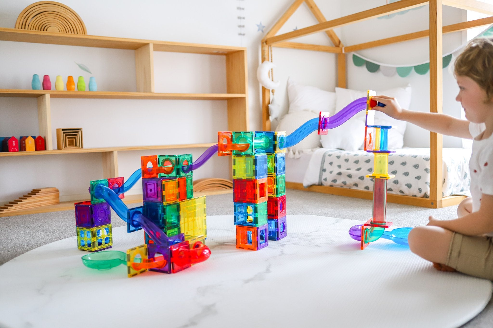 Learn and Grow Magnetic ball run in kids room