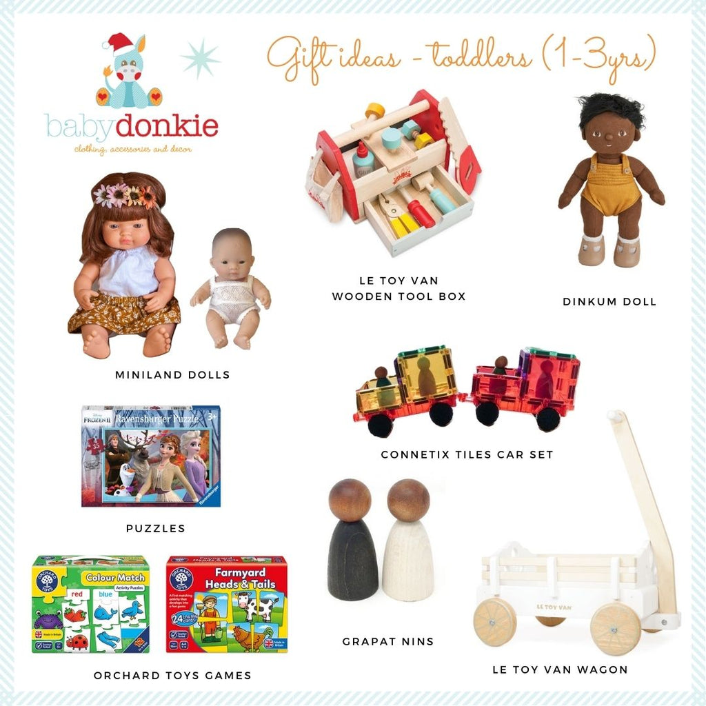 BabyDonkie Christmas gift ideas 2020 for 1-3yr old kids